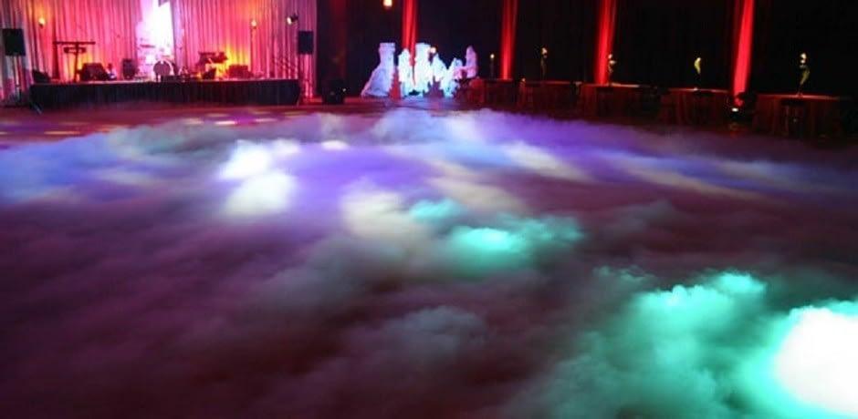 Εφέ χαμηλής ομίχλης από ξηρό πάγο
